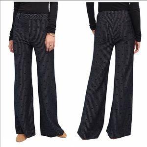 Cartonnier Women's Black Jacquard Dot Trousers